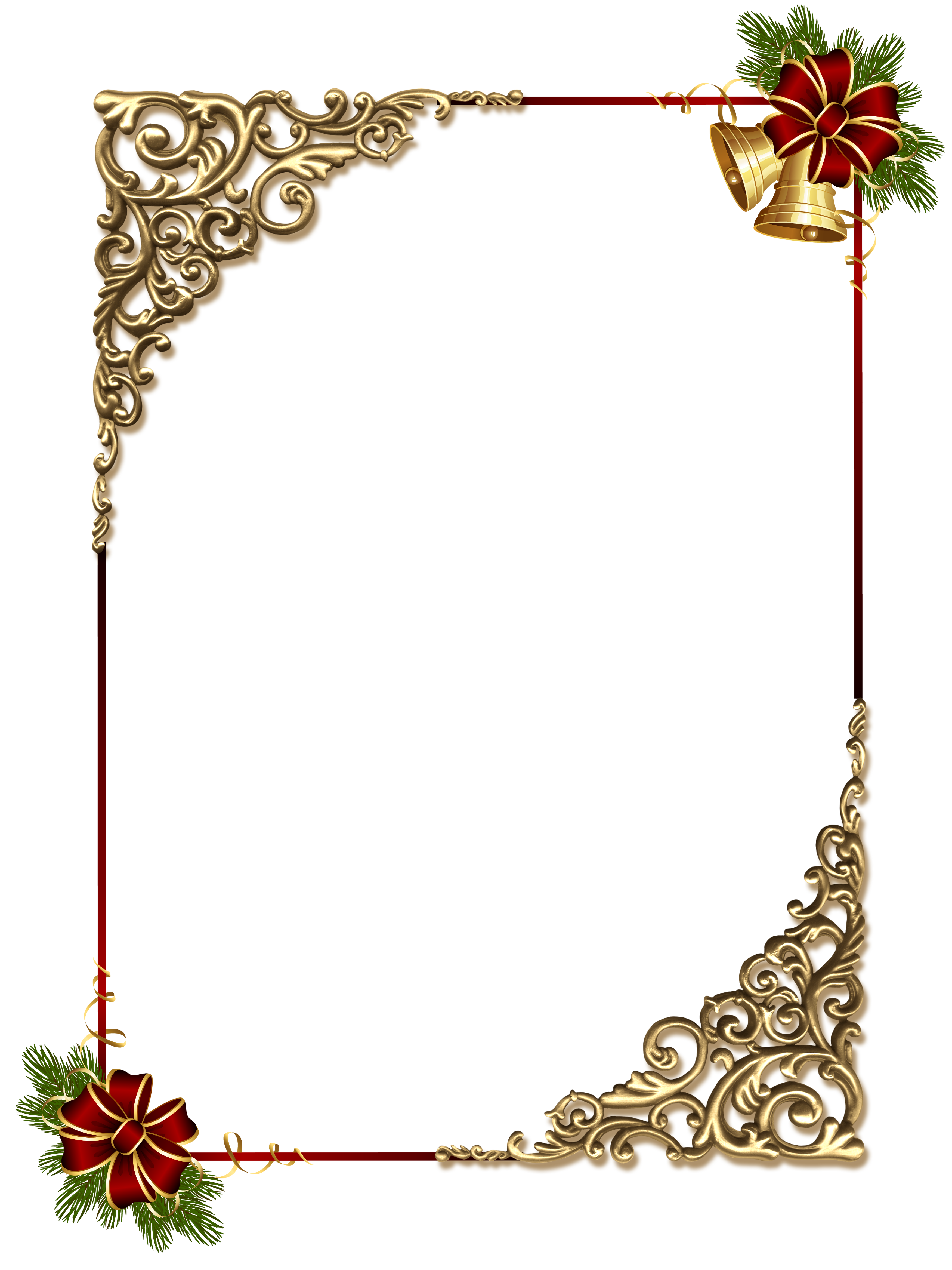 black and gold frame png. Christmas_Gold_PNG_Photo_Frame_with_Red_Bow.png Black And Gold Frame Png B